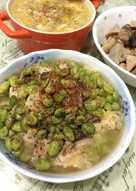 電鍋料理~~~毛豆鯛魚蒸豆腐