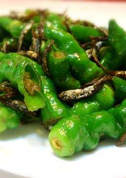 糯米椒炒魚乾