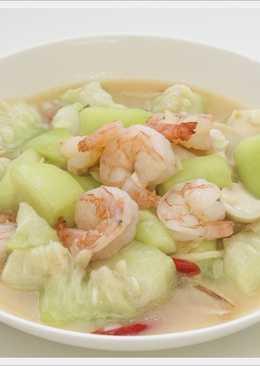 簡單的美味料理~蝦仁燴絲瓜