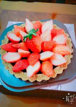 草莓巧克力塔(免烤)