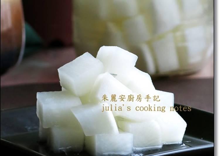 [韓式醃蘿蔔]做法簡單的開胃小菜