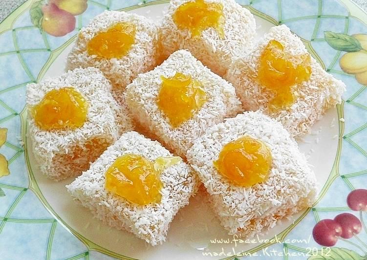 柳橙藕粉涼糕