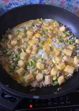 玉米筍吃豆豆長肉肉炒蛋