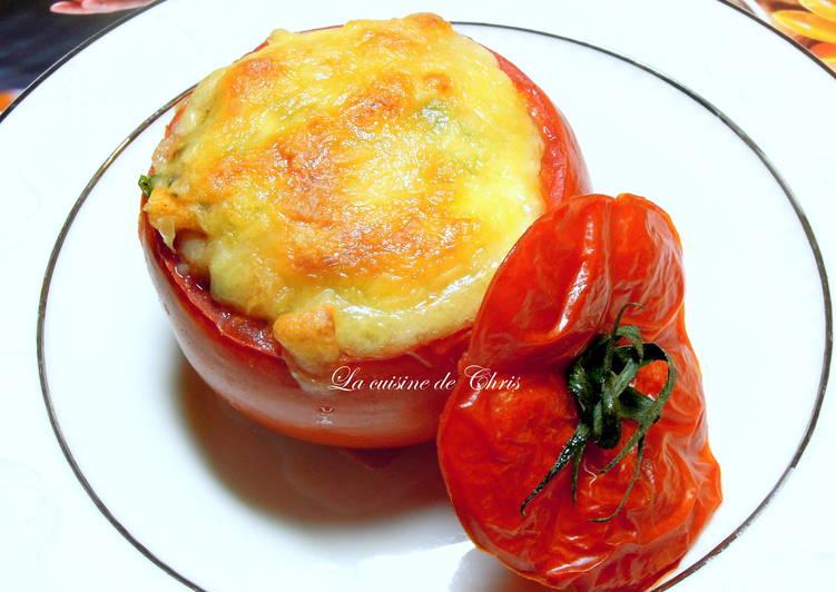 [蔬食] 焗烤番茄盅