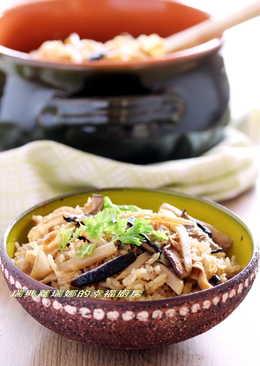 一鍋懶人料理~竹筍菜脯香菇炊飯