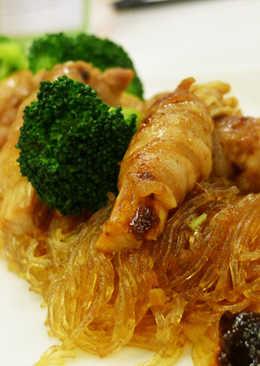 冬粉香菇肉捲(駱藝不絕天香麻辣醬食譜)