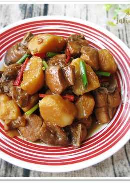 [洋蔥馬鈴薯燒雞]下飯的家常菜