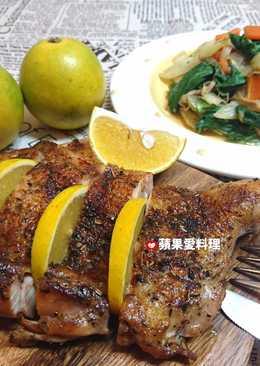 義式香料紅椒雞腿排、炒綜合時蔬(1鍋2菜)