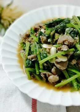 沙茶菠菜羊肉