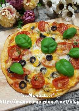 油漬番茄薄皮披薩(自製薄皮披薩皮)