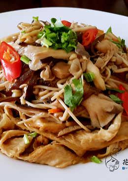 鮮菇燴豆皮