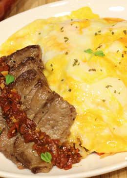 [亨氏番茄醬]牛小排番茄蛋包飯