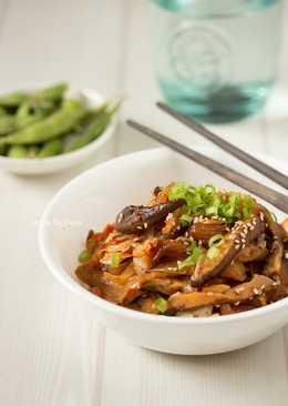 韓式泡菜炒鮮菇 – 健康素