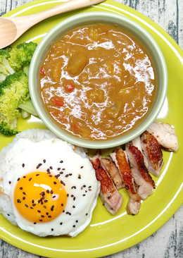 ~燒雞咖哩飯~餐桌上的晚餐