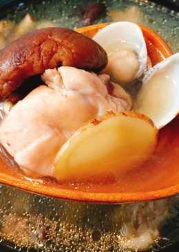 簡單方便少油好健康的電鍋版蛤蜊香菇雞湯