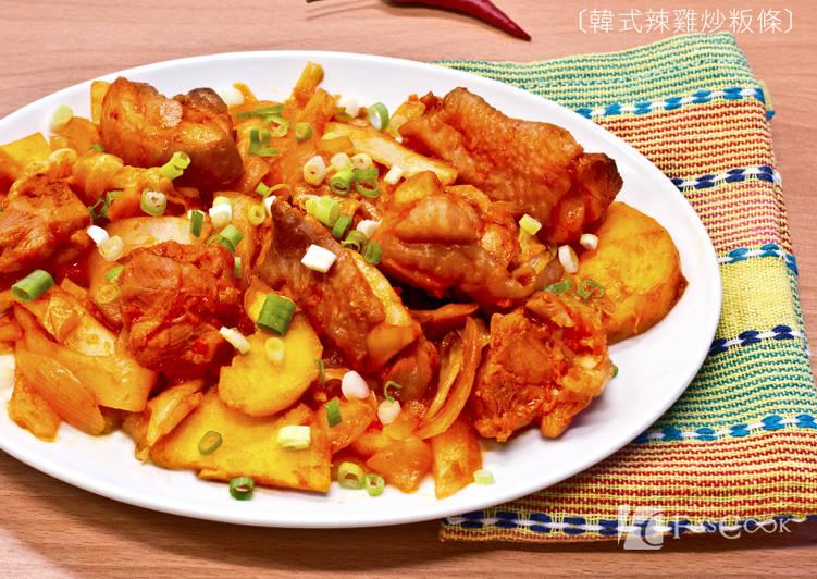 菲姐私房菜-韓式辣雞炒粄條