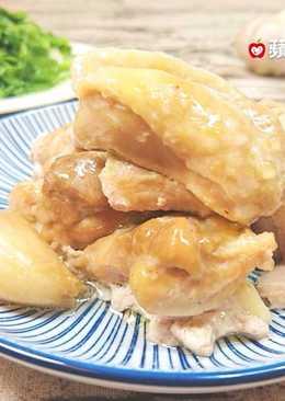 蒜頭蒸雞(電鍋。無油煙)