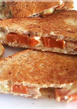 雞犬熱壓三明治(平底鍋做熱壓三明治)