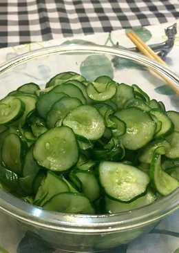涼拌小黃瓜薄片