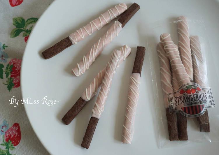 草莓巧克力餅乾棒