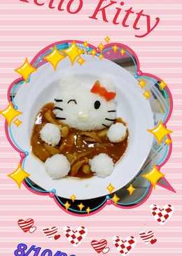 Kitty泡湯造型便當