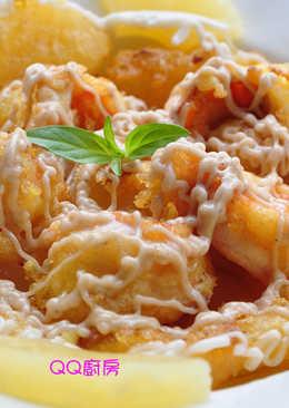 梅醬鳳梨蝦球
