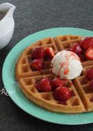 酥脆的格子鬆餅(Waffle)