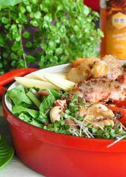 鮭魚藜麥優格溫沙拉