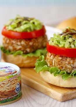 健康低脂鮪魚堡