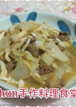黃金泡菜菇菇炒牛肉