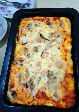 自家制千島醬海鮮pizza