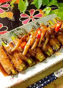 醬燒蘆筍肉捲