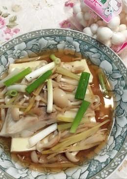 清蒸雕魚鮮菇豆腐