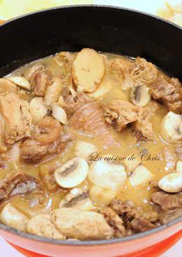 蘑菇麻油雞酒