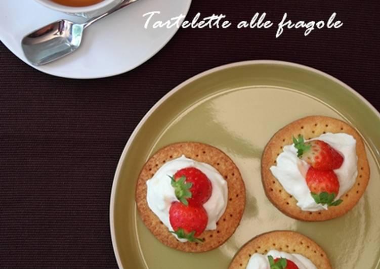 草莓乳酪醬餅乾塔