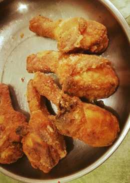 (煮食影片) 韓式炸雞 (半半口味:一半原味和一半甜辣口味)