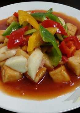 糖醋百頁豆腐(素食)