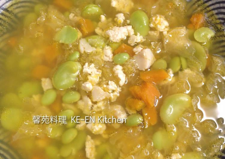 雞粒銀耳南瓜湯