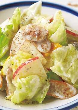 東販小食堂:高麗菜蘋果優格沙拉