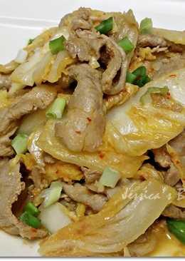 黃金泡菜炒豬肉