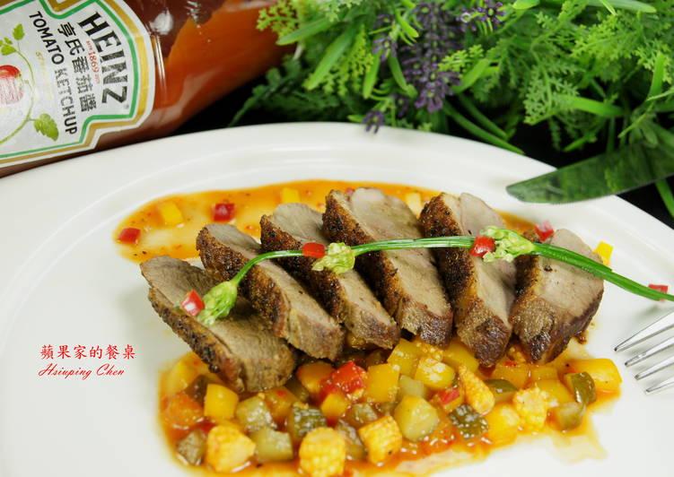 [亨氏番茄醬]香草鴨肉-佐番茄紅酒醬