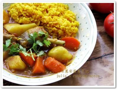 [薑黃飯配薑黃番茄咖哩雞]味道濃郁家常菜