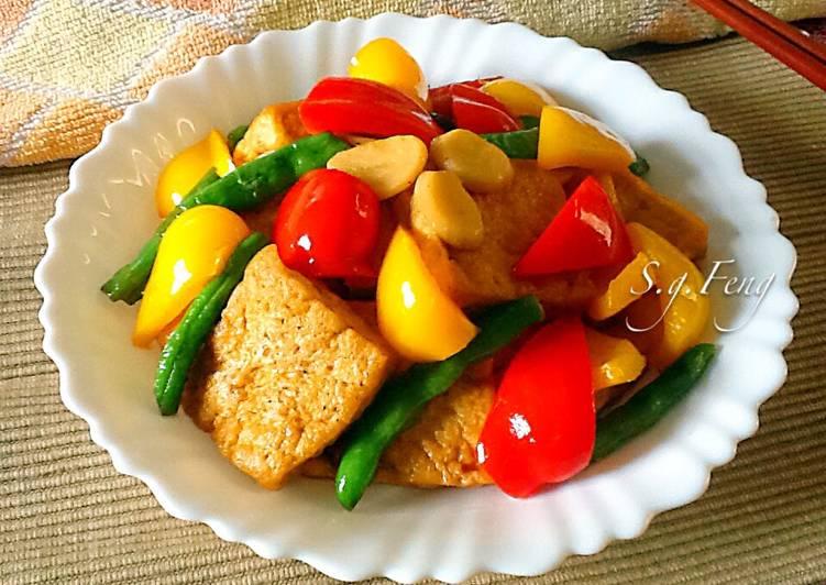 彩蔬紅燒豆腐
