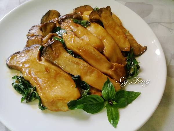 塔香蠔油杏鮑菇