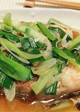 麻油蒜苗鮮魚