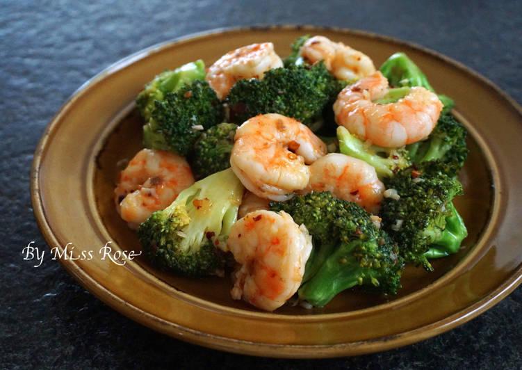 蝦仁辣炒綠花椰菜