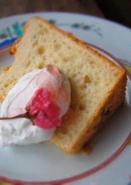 日式櫻花戚風蛋糕(Sakura Chiffon Cake)