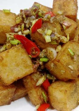 椒麻香酥芋粿