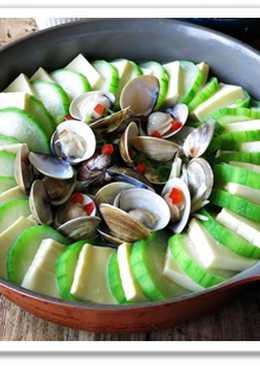 [蛤蠣豆腐絲瓜] 懶人料裡一鍋到底