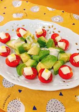 番茄酪梨起士沙拉🥗